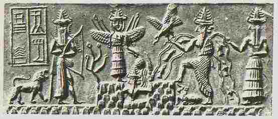 Sumerian God with Wings