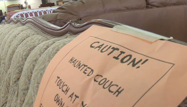'Haunted Couch' Draws Visitors to Furniture Store