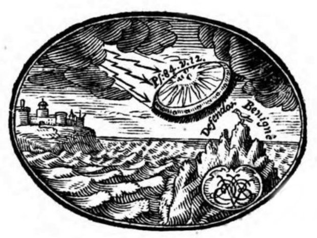 Does This 18th Century Book Show a UFO on Its Cover?