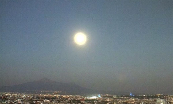 Web Cam Captures Bright 'UFO' Traveling Away from Volcano
