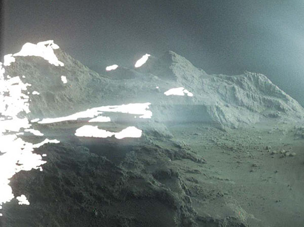 Newly Released Image Reveals Alien Landscape of Comet Surface