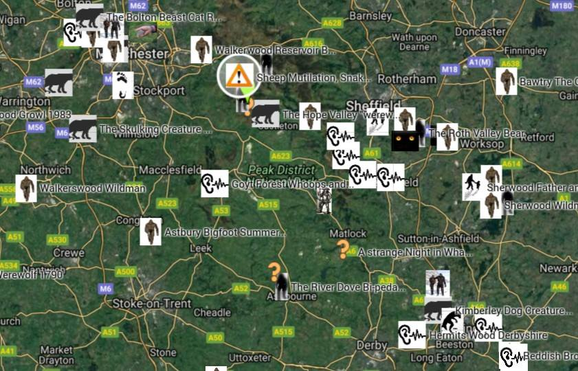 British Researcher Maps Out UK Cryptid Creature Sightings