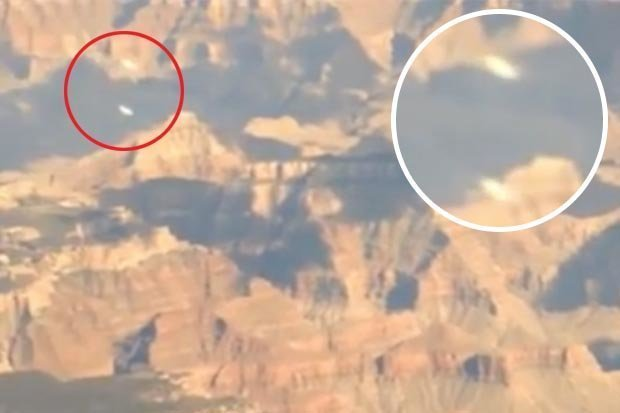 Two 'UFOs' Filmed Flying over the Grand Canyon