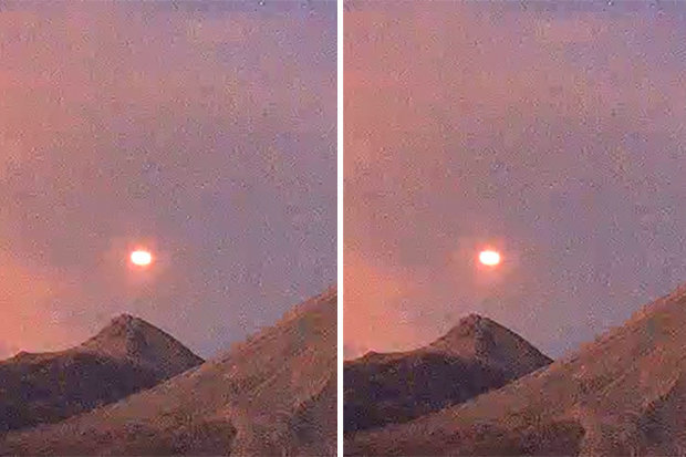 Bright 'UFO' Orb Recorded Flying Over Volcano
