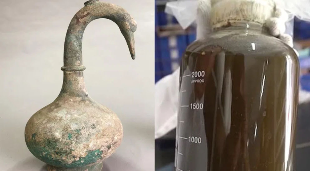 Ancient Chinese Swan Pot Discovered with Mystery Liquid Inside