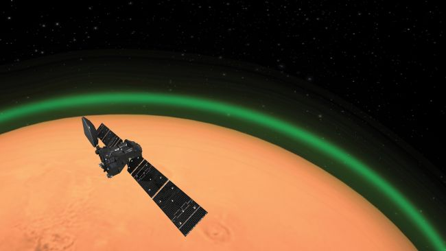 Green Glow Spotted in the Atmosphere of Mars