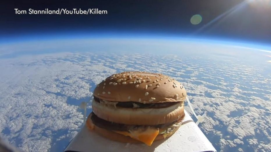 Man Sends Big Mac Into Space, Takes a Bite after Retrieving It