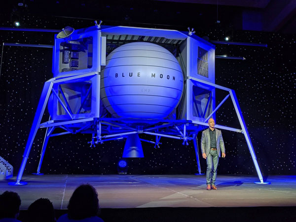 Jeff Bezos Introduces Blue Moon and Plans for Space Colonization