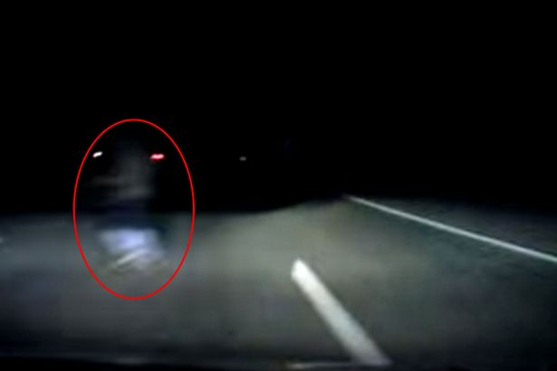Chilling Dashcam Footage Shows Driver Swerving to Avoid 'Ghost'