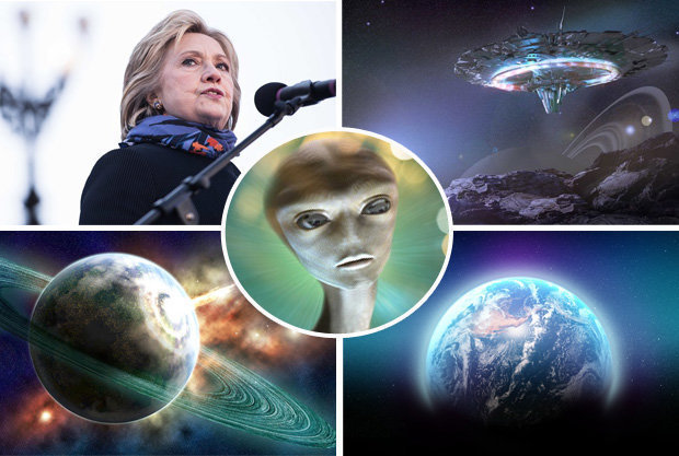 Bookmakers Slash Odds of Alien Life after Hillary Clinton Interview