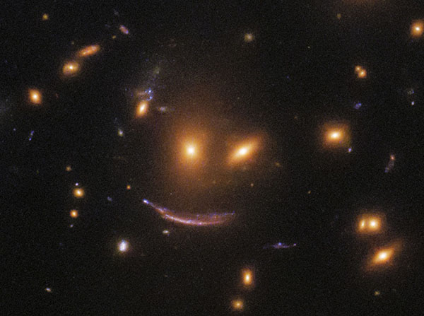 'Space Smile' Spotted in Hubble Telescope Image