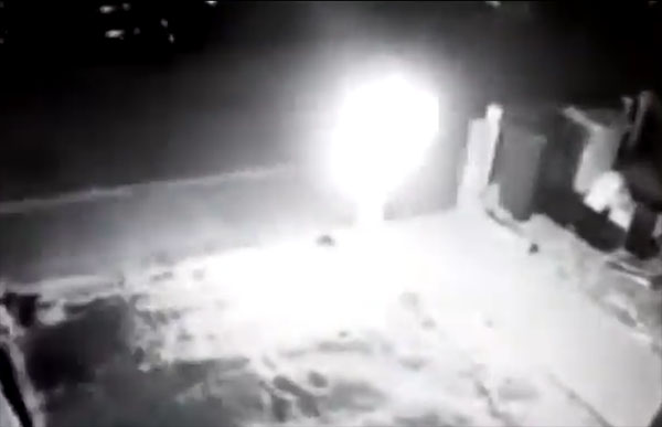 UFO or Lantern? Strange Object Filmed Landing in British Garden