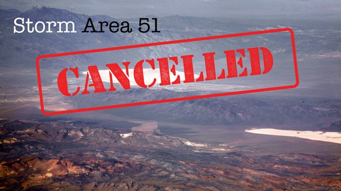 'Storm Area 51' Page Removed by Facebook for Violating 'Community Standards'