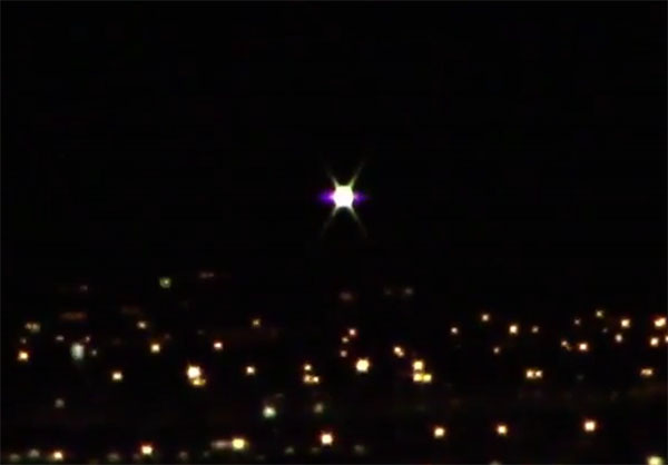 Bright 'UFO' Recorded over Las Vegas Valley