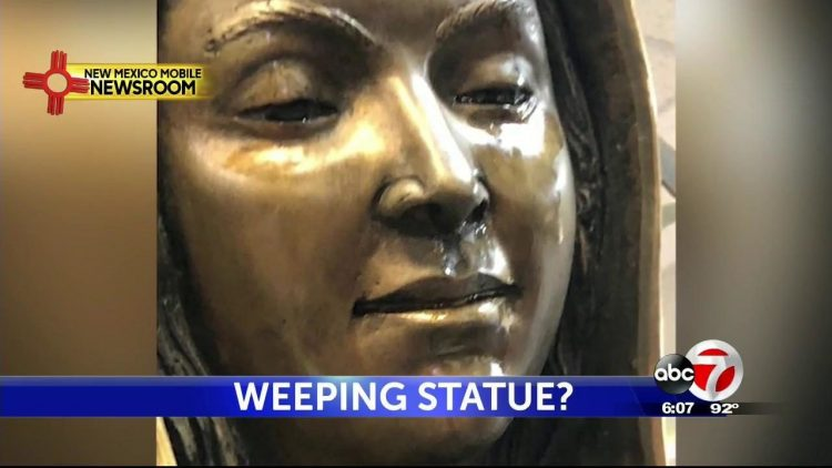 Christians Flock to Virgin Mary Statue Crying Rose-Scented Tears
