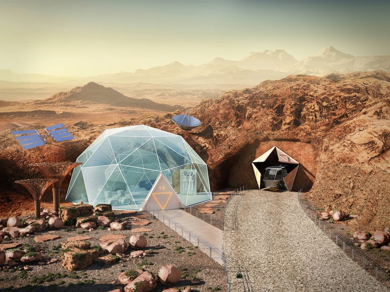 Scientists Predict What Homes on Mars Might Look Like