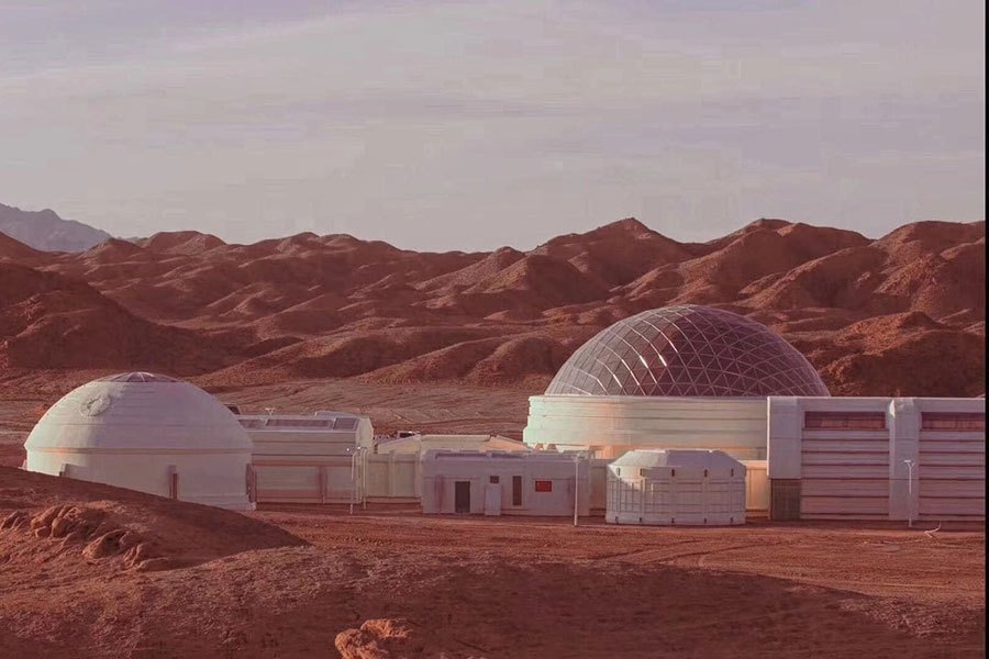 China Creates 'Mars Base' in the Gobi Desert