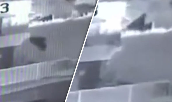 'Black Cloaked Shadow' Caught on CCTV Floating Near Building